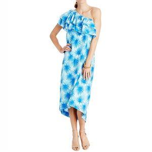 VINEYARD VINES Electric Palm One Shoulder Dress 14